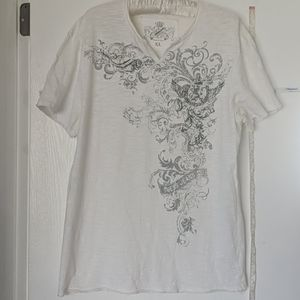 GUESS MEN'S EXTRA LARGE CREAM COLORED TEE